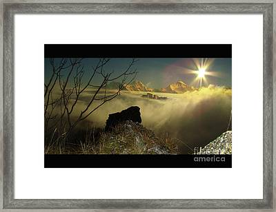 Swiss View Framed Print by Bruno Santoro
