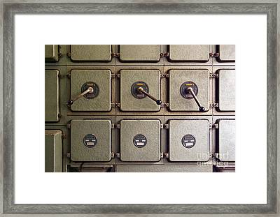 Switch Panel Framed Print
