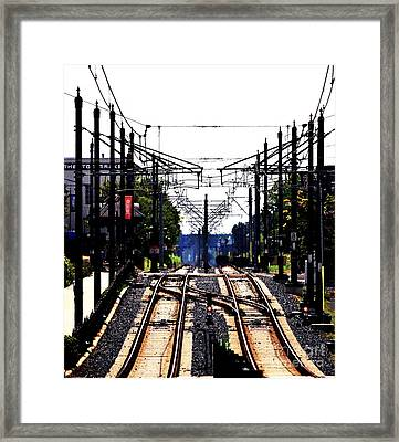 Switch Tracks Framed Print