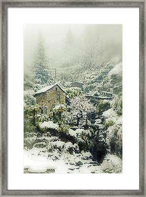 Switzerland In Winter Framed Print by Joana Kruse