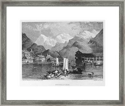 Switzerland: Interlachen Framed Print by Granger