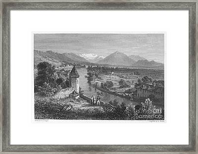 Switzerland: Thun, 1833 Framed Print by Granger