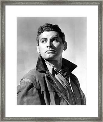 Sword In The Desert, Jeff Chandler, 1949 Framed Print by Everett