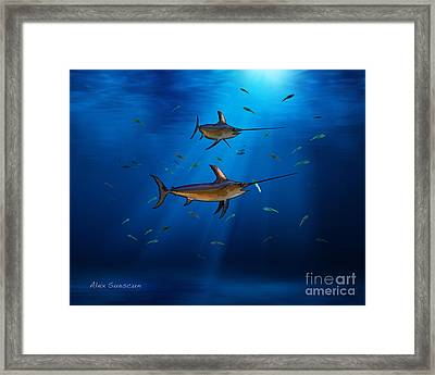 Swordfish Moon Framed Print
