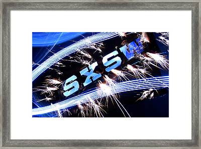 Sxsw Framed Print by Andrew Nourse