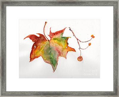 Framed Print featuring the painting Sycamore Fall by Doris Blessington