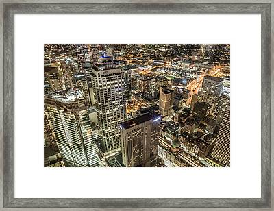 Sydney At Night Framed Print by Andy Nguy