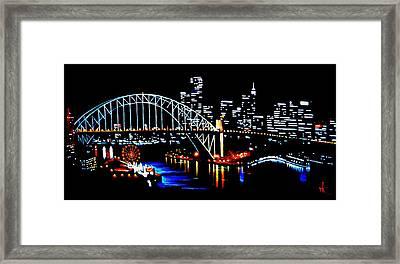 Sydney By Black Light Framed Print