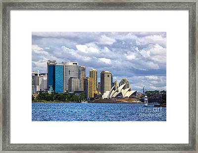 Sydney Harbour One Framed Print by Rick Bragan