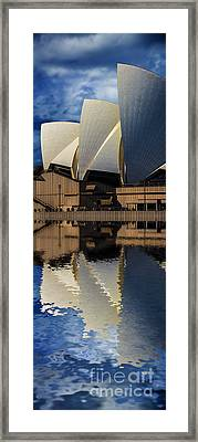 Sydney Opera House Abstract Framed Print by Avalon Fine Art Photography