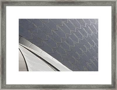 Sydney Opera House Roof Framed Print by Martin Cameron