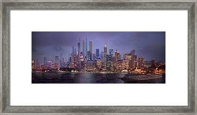 Sydney's Future Framed Print by Virginia Palomeque
