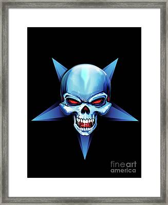 Framed Print featuring the drawing Symbol Of Evil by Brian Gibbs