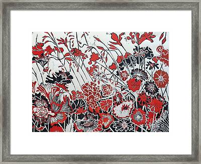 Symphony In Red Framed Print by Belinda Nye