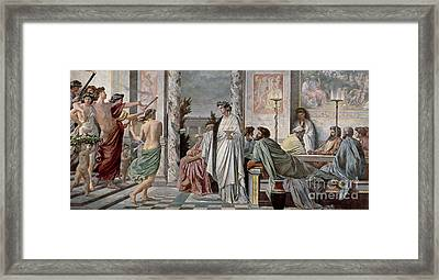 Symposium Of Plato Framed Print