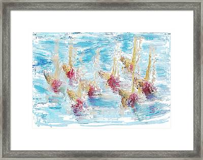 Sync Or Swim Framed Print by Russell Pierce