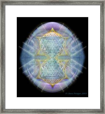 Synthecentered Chalice In Ovoid On Black Framed Print