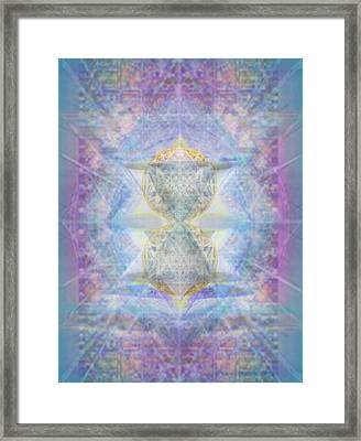Synthecentered Doublestar Chalice In Blueaurayed Multivortexes On Tapestry Framed Print