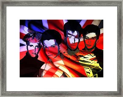 Synthesizer Heros Framed Print by Steve K