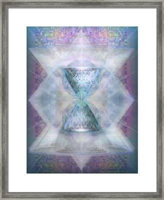 Synthesphered Chalice 'fifouray' On Tapestry Framed Print by Christopher Pringer