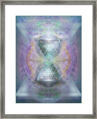 Synthesphered Grail On Caducus Blazed Tapestrys Framed Print