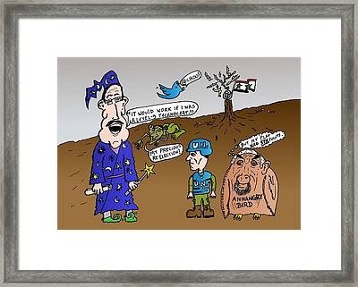 Syria Is Mordor Framed Print by Yasha Harari