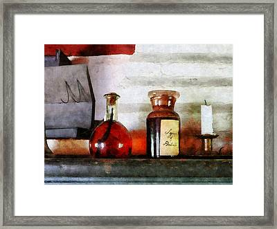 Syrup Of Rhubarb Framed Print by Susan Savad