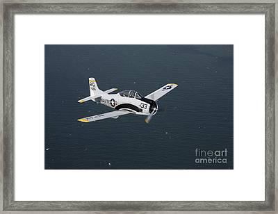 T-28 Trojan Trainer Warbird In U.s Framed Print