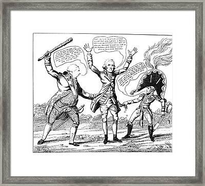 T. Jefferson Cartoon, 1809 Framed Print by Granger