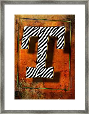 T Framed Print by Mauro Celotti