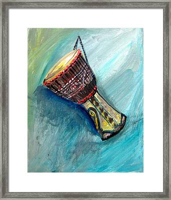 Tabla 1 Framed Print by Amanda Dinan