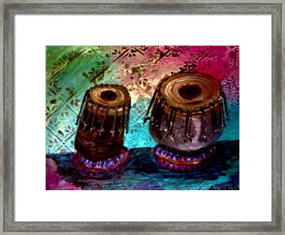 Tabla 3 Framed Print by Amanda Dinan
