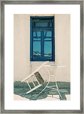 Table And Chair Framed Print