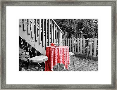 Table And Chairs Framed Print by Frank Nicolato