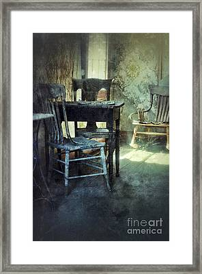 Table And Chairs Framed Print by Jill Battaglia