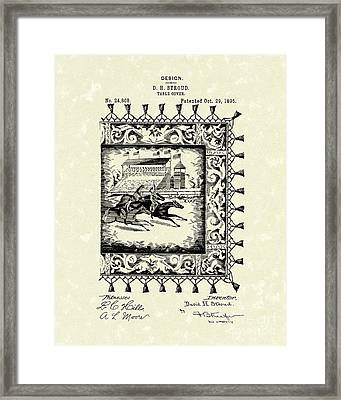 Table Cover 1895 Patent Art Framed Print