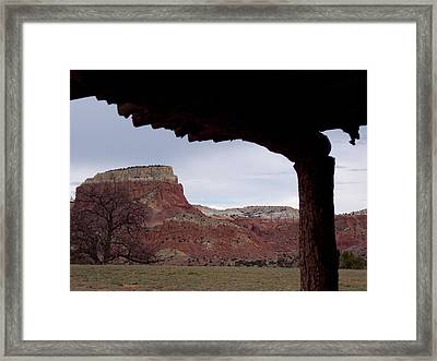 Table Mesa At Ghost Ranch Framed Print by Susan Alvaro