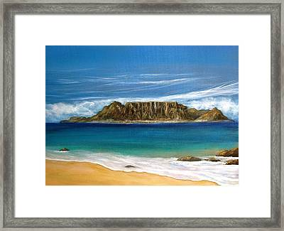 Table Mountain 2 Framed Print by Heather Matthews