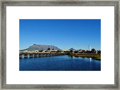 Framed Print featuring the photograph Table Mountain by Werner Lehmann