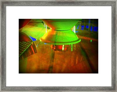 Table Topsy Turvy Framed Print by Randall Weidner