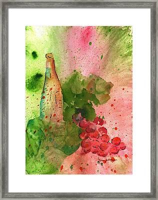 Table Wine Framed Print by Fern Payne