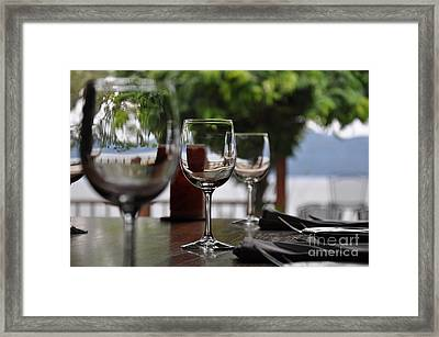 Table With A View Framed Print by Tanya  Searcy