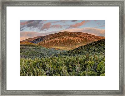 Ancient Boreal Mountain And Forest Framed Print by Scott Leslie