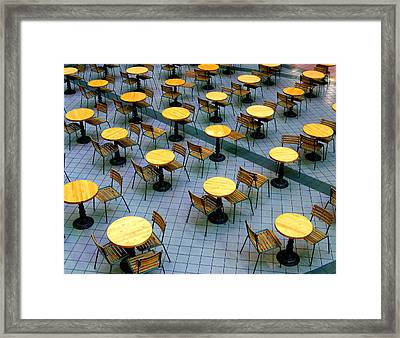 Tables And Chairs II Framed Print by Steven Ainsworth