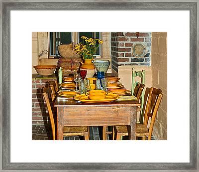 Tabletop Framed Print by Susan Leggett