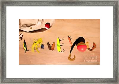Framed Print featuring the photograph Tacklebox I Love You by Cathy  Beharriell