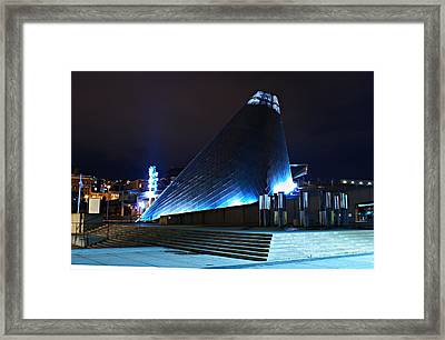 Tacoma Museum Of Glass At Night 1 Framed Print