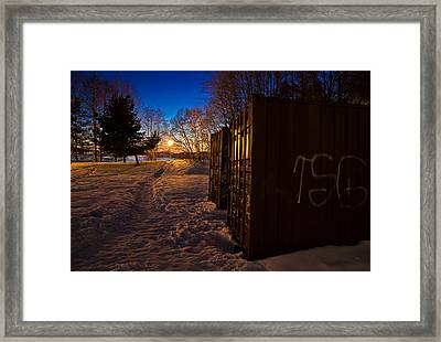 Framed Print featuring the photograph Tagged Containers by Matti Ollikainen