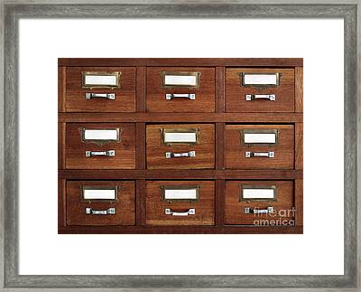 Tagged Drawers Framed Print by Carlos Caetano