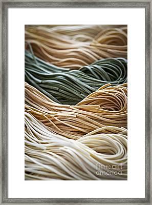 Tagliolini Pasta Framed Print